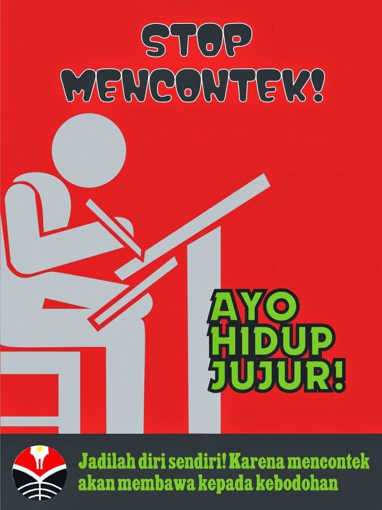 poster pendidikan bahaha mencontek